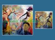 Abstract painting on request basis - best quality low price