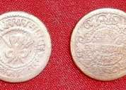 Gwalior state - king madho rao 1/4 anna ad 1886 - 1925 snake type