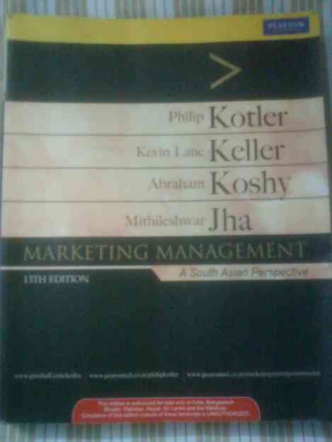 Kotler's marketing management 13th Edition - Brand new
