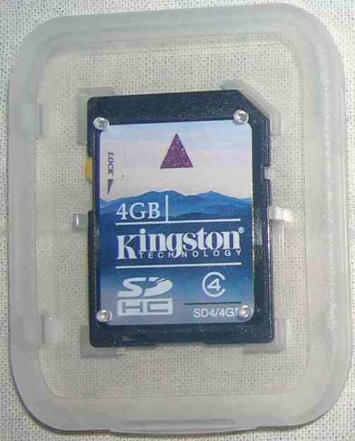 New Kingston 4 GB SD Card Class 4