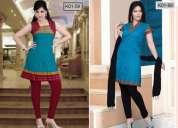 Wholesale kurti, tops, salwar suits, dress material and leggings