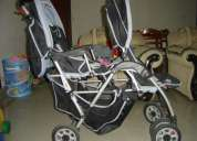 Double pram,car seat and high chair for sale