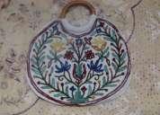 Fancy hand bags with kashmiri ari work