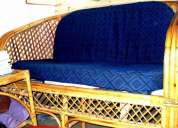 2+1+1 bamboo sofa set+ 1 bamboo centre table (glass top) for  sale @ rs. 3200.00