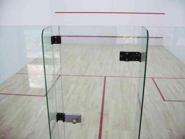 Badminton Court, Squash Court Wooden Flooring, Squash Glass Backwall & Hard plaster