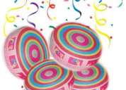Cool frisbee throw confetti  - 7 rolls - funky style party popper - rs.185/- only