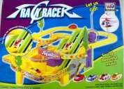 Track n racer musical racing car with flip-action ramp and advanced features