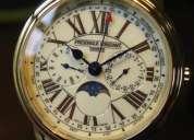 Frederique constant persuasion business timer moon phase men's watch fc-270em4p5