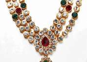 Kundhan necklace -peacock collections