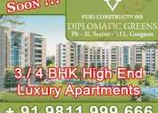 Puri diplomatic greens phase 2 gurgaon +91 9811 999 666 property gurgaon