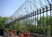 Concertina razor boundry fencing