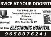 Computer & tv service at affordable price at electronic hospital
