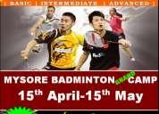 1st grand multi-location badminton camp in mysore (6-17yrs)