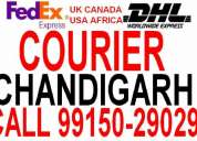 fedex courier dhl courier chandigarh to usa canada australia africa georgia spain italy uk