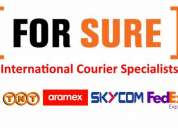 International courier services available  for middle east in goa call forsureservices.