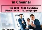 Is your translation agency certified for iso 9001, din en 15038 standards?