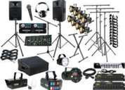 Professional sound and lighting for all your events