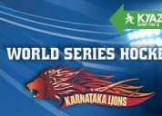 Kyazoonga.com: buy tickets online for the karanataka lions playing in world series hockey!