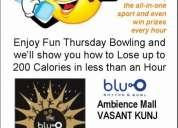 Thursday blu-0 fun bowling league at vasant kunj ambi mall