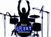Professional drummer available for parties for any musical show.