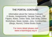 Education portal for uptu students