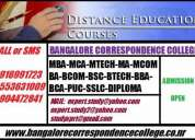 Best bangalore correspondence and one sitting courses