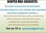 Wanted mba graduates (academic writing)