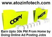 Best copy and paste jobs in india. earn rs 30000 per month.