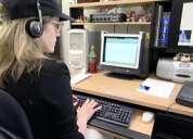 An exp medical transcriptionist needs home based job