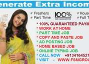 100% guaranteed payment, work from home, copy and paste job, part