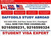 Daffodils no. 1 study visa consultant : chandigarh
