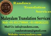 01204566983 malayalam translation service in haryana delhi