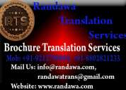 09212799949 brochure translation service in delhi haryana