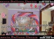 Balloon decoration in hyderabad,balloon decorator in hyderabad,birthday party organiser