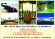 Explore serene destinations of karnataka