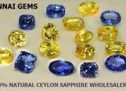 Ceylon sapphires at wholesale price