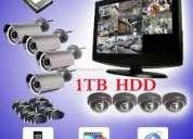Cctv 4 dome cameras & 4 channel dvr security surveillance kit mobile9392446157 —hyd
