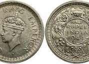 George vi king emperor silver coins