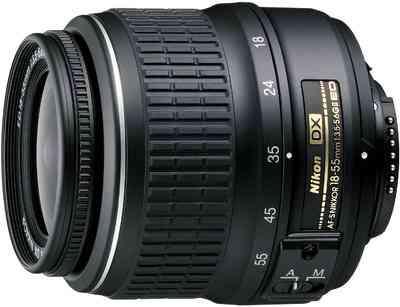 Nikon AF-S DX Nikkor 18-55 mm f/3.5-5.6G VR (3.0x) Lens