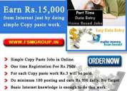 Online ad posting job, copy and paste job, online data entry jobs