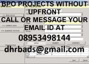 data entry projects without deposit