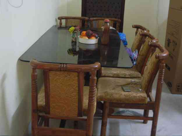 Dining Table With 6 Chairs For Urgent Sale Hyderabad Home Furniture Garden Supplies