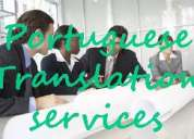 Portuguese translation interpreter services available at very low rates