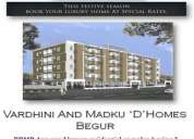 Valdis group offers spacious 3bhk apartments for sale @begur main road