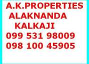 inr 8000/- residential apartment 1 bhk  400 sq.ft.  in kalkaji nr.alaknanda market contac